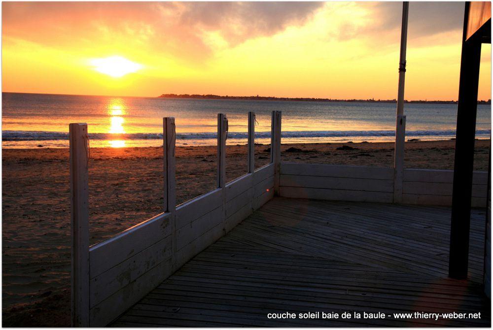 Couché de soleil baie de La Baule - Photos Thierry Weber Photographe de Mer Guérande La Baule