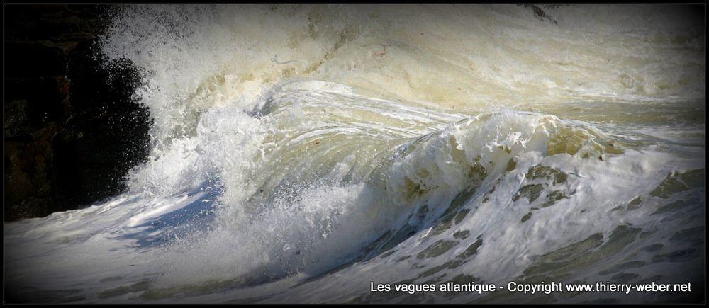Les vagues atlantique - Panoramiques - Côte Sauvage Le Croisic - Batz-sur-Mer - Photos Copyright Thierry Weber