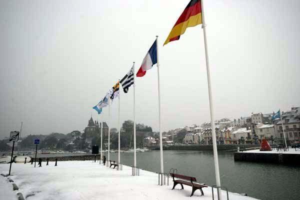Photos de la Ville de Pornic sous la neige - Photos Thierry Weber Photographe de Mer - La Baule Guérande