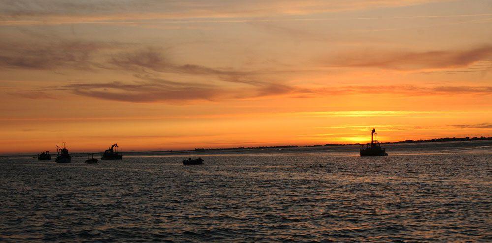 Couchés de soleil sur la baie du Morbihan - Photos Thierry Weber Photographe de Mer - La Baule Guérande
