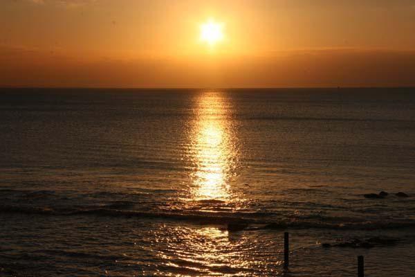 Photos de Pornic - Sud Bretagne Couchés de soleil sur la plage de la Birochère à Pornic - Photos Thierry Weber Photographe de Mer - La Baule Guérande