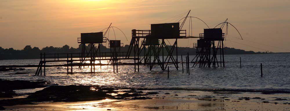 Couchés de soleil sur les pêcheries de Tharon Plage - Photos Thierry Weber Photographe de Mer La Baule Guérande