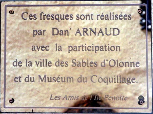 Les fresques en coquillages du Quartier de l'Ile Penotte aux Sables d'Olonne (Vendée)