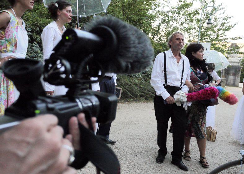 """""""Les tombées de la nuit"""" à Rennes du 5 au 10 juillet 2010. Une promenade dans le Jardin Thabor."""