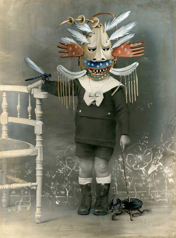 Album - gouache sur photos anciennes