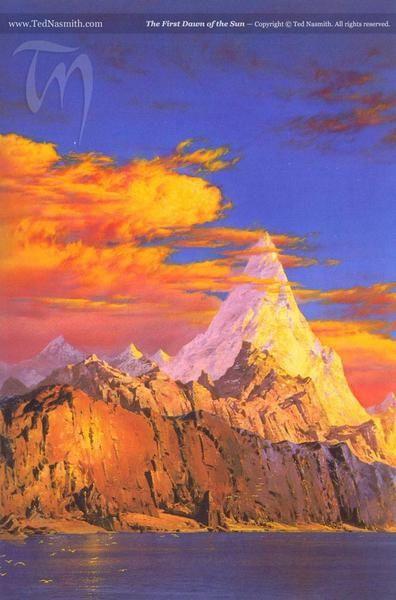 Tableaux des grands peintres de Tolkien: Nasmith, Howe, Lee.