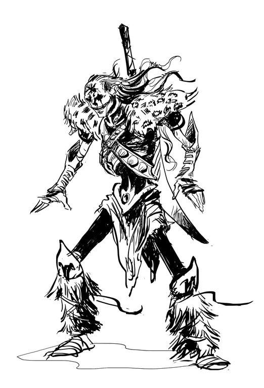 Galerie heroic fantasy et SF... Des dessins liés aux univers oniriques que j'affectionne.