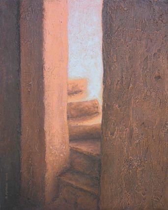 peintures de terre crue et acrylique