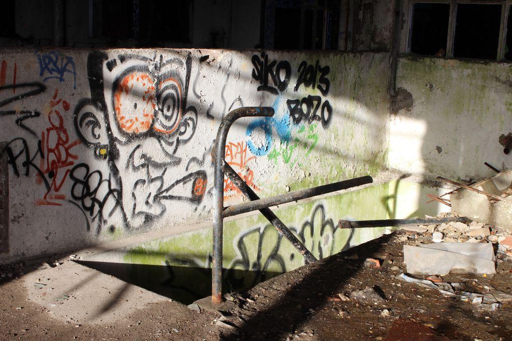 """Grande première pour moi avec ma première """"Urbex"""" ou """"exploration urbaine"""". Au programme, une usine désaffectée avec ancien abattoir de cochons, en région parisienne. AU programme: du verre cassé, des tags, des peintures écaillées, du vert qu"""