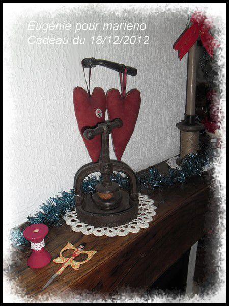 Superbe calendrier 2012 que j'ai reçu d'Eugénie