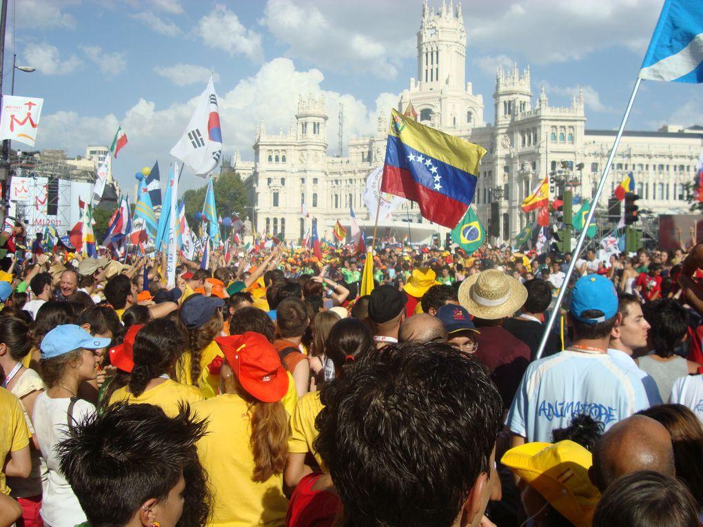 10 au 22 août 2011. Quelques photos des JMJ de Madrid vécues par les jeunes cannois.