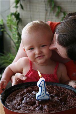 Le 1er anniversaire d'Emma ! Pour l'occasion, nous avions invité Amandine et Andreas.