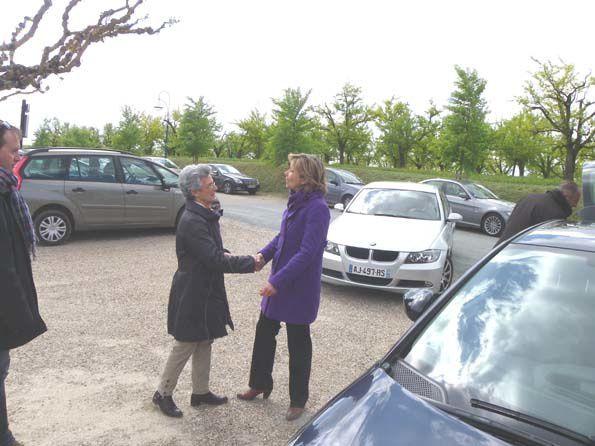 Visite de Valérie Pécresse Ministre du Budget le 16 avril 2012