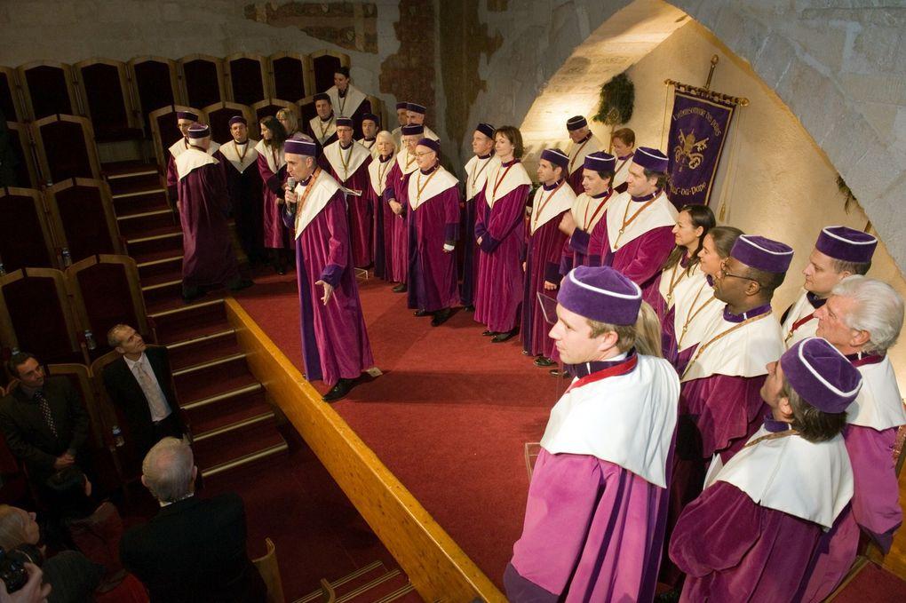 Grand Conseil de l'Echansonnerie des Papes du 8 décembre 2012 au Palais des Papes en Avignon