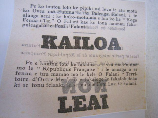 wallis, à quelques jours du 50ème anniversaire du statut du territoire.
