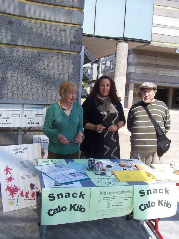 La CLCV s'est associée au Lycée Champollion à Lattes, pour organiser la semaine de la Nutrition du 20 au 24 avril 2009.