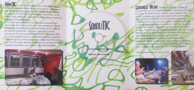 Le projet SonoliTIC est une rencontre entre deux visions artistiques : celles d'Emmanuel Dilhac et du groupe Scénocosme.  Le projet SonoliTIC est financé dans le cadre du dispositif régional de soutien à l'appropriation sociale des TIC(s) -