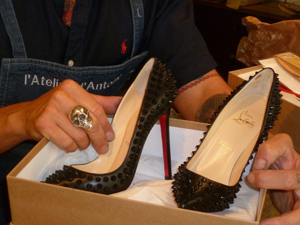 Patin gomme rouge spéciale pour les souliers Christian Louboutin, garde la souplesse et respecte la ligne du créateur.