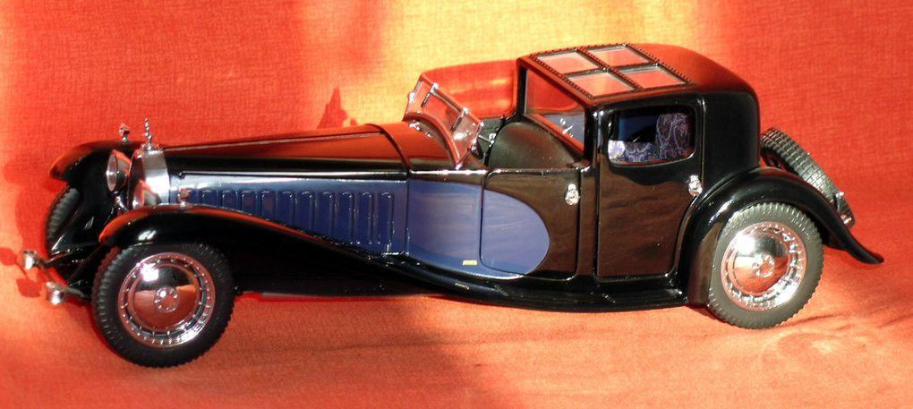 Bugatti 41 Coupé Napoléon 1930Bugatti 57SC Atalante 1936Miniature au 1/24ème de Franklin Mint Précision