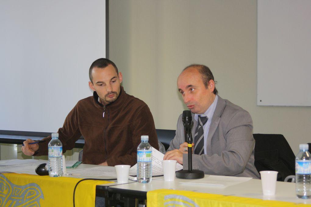 Vues du Congrès de ma fédération UDB de Loire-Atlantique, réunie à Nantes (Port-Beaulieu) le 11 décembre 2010.