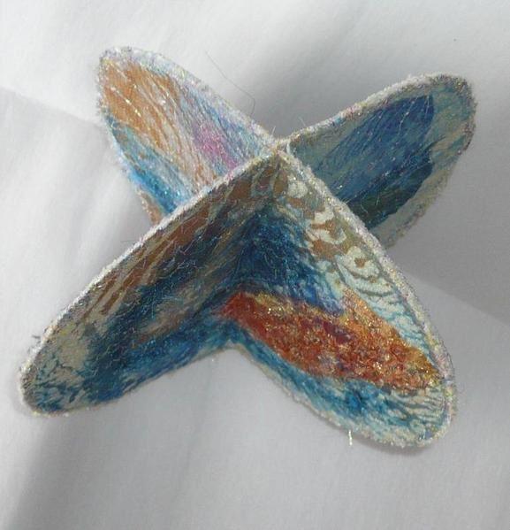 récup de CD pour une déco textile