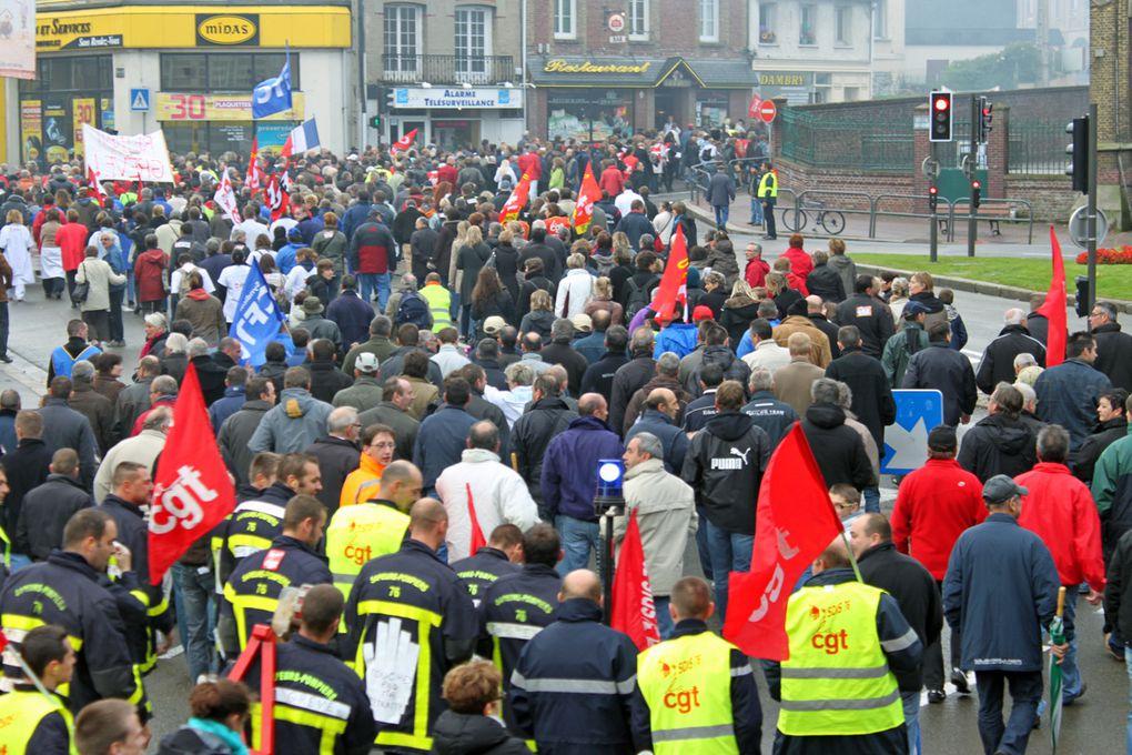 Manifestation pour la défense des retraites à Dieppe