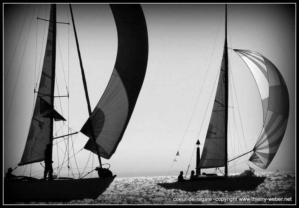 Coeur de Régate Vieux Gréements Baie de La Baule - Photos Noir et Blanc de Thierry Weber - Photographe La Baule Guérande