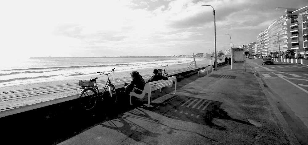 Hiver à La Baule - Photos Noir et Blanc de Thierry Weber - Photographe La Baule Guérande