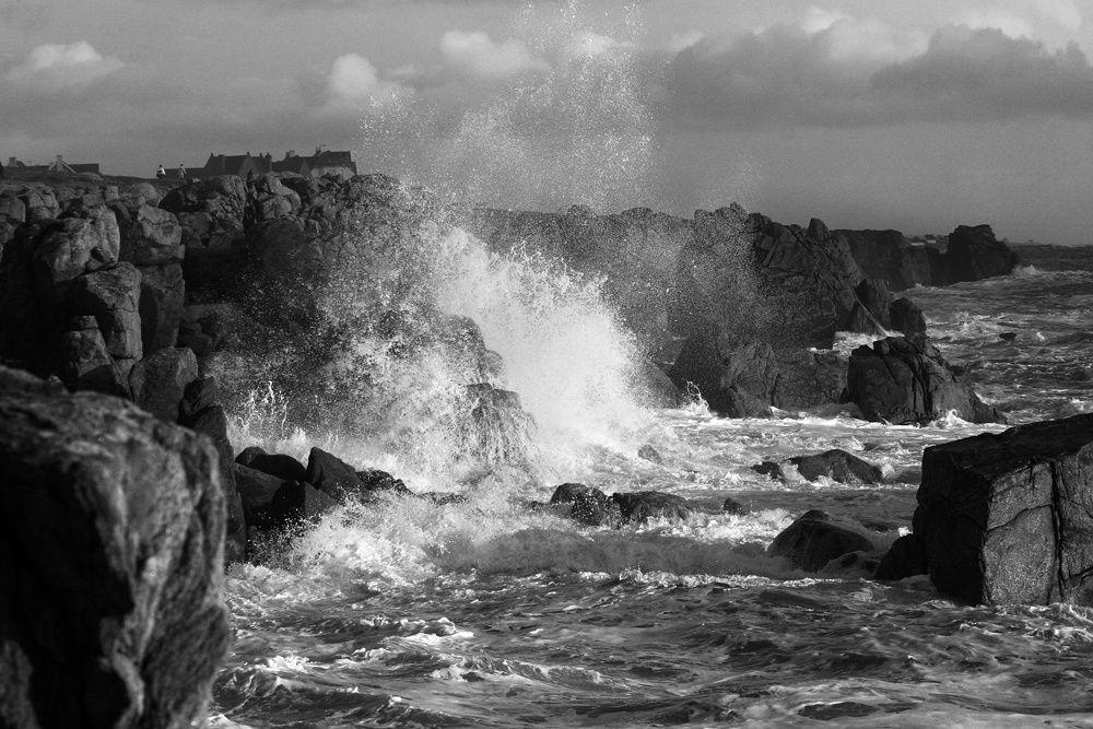 Jour de Tempête - Photos Noir et Blanc de Thierry Weber - Photographe La Baule Guérande