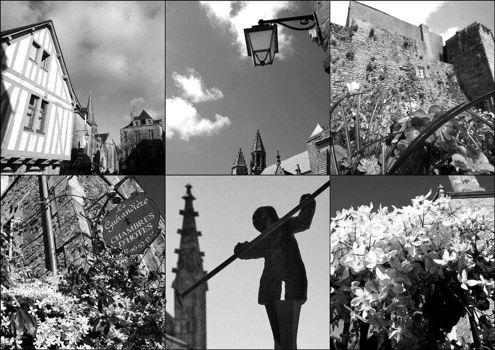 Les cartes postales en noir et blanc