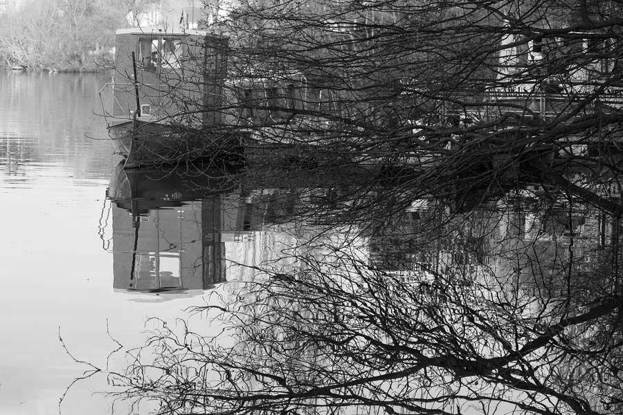 Les Bords de l'Erdre à Nantes - Photos Noir et Blanc de Thierry Weber - Photographe La Baule Guérande