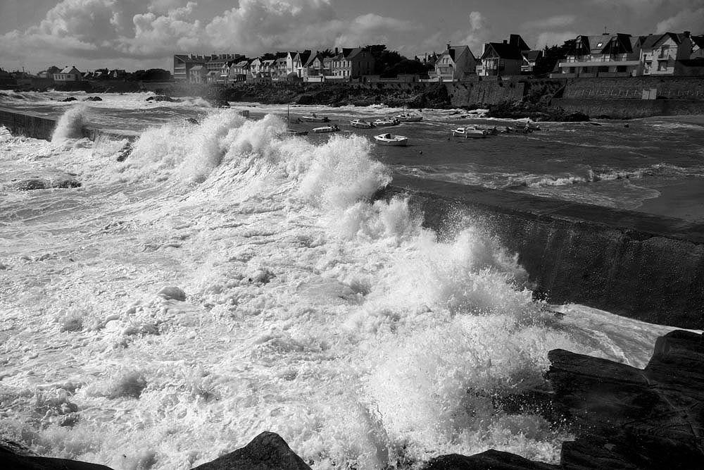 Coup de Vent en Bretagne - Photos Noir et Blanc de Thierry Weber - Photographe La Baule Guérande