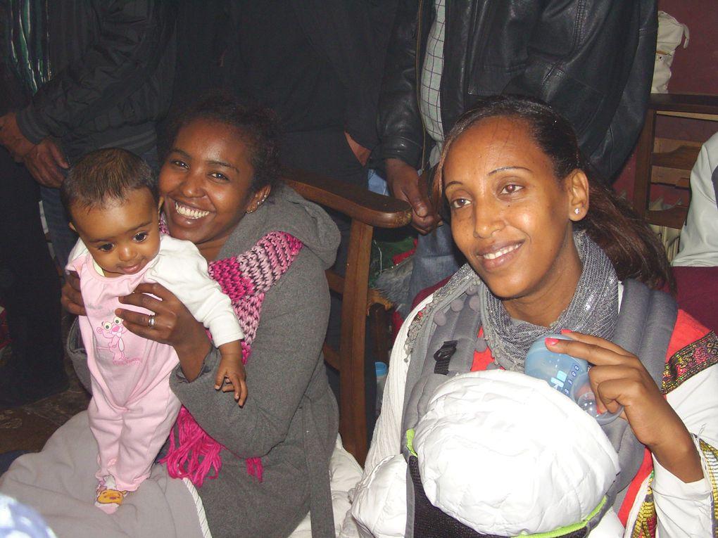 Concélébration le 01.12.2012 avec Abba Wede Tensaé de l'Eglise  Orthodoxe d'Egypte. D'un baptême d'enfant de deux adultes et de la Divine Liturgie.