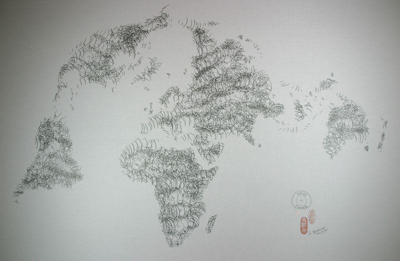 Stamp sur papiergrand format 120X80cmpetit fomat 50X65cmghyslain bertholon 2011/2012