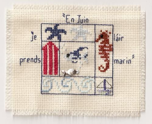 Broderies aux points de croix
