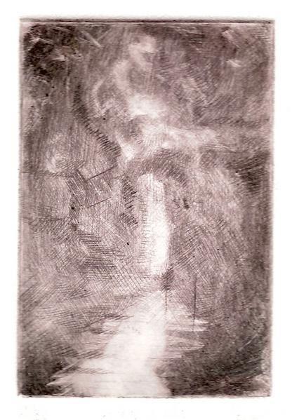 d&eacute&#x3B;monstration de gravure taille douce: l'eau forte