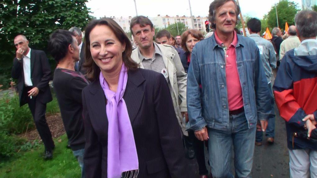 Manif à Poitiers avec Ségolène Royal, tous le PS...