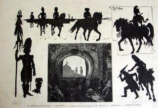 """Ces images montrent des documents et marionnettes de notre collection qui sont extraits de notre exposition """"La marche àl'ombre"""" .Ces documents sont des originaux et non des reproductions ou photos """"piquées"""""""