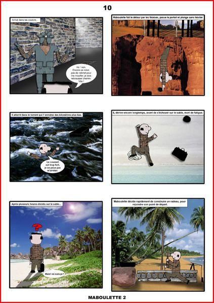 Ces bandes dessinées et ce personnage ont été créés et réalisés par un petit garçon de 10 ans.Il avait alors écrit et réalisé 4 albums en noir et blanc. Les aventures du professeur Maboulette.35 ans + tard, ce petit garçon découvr