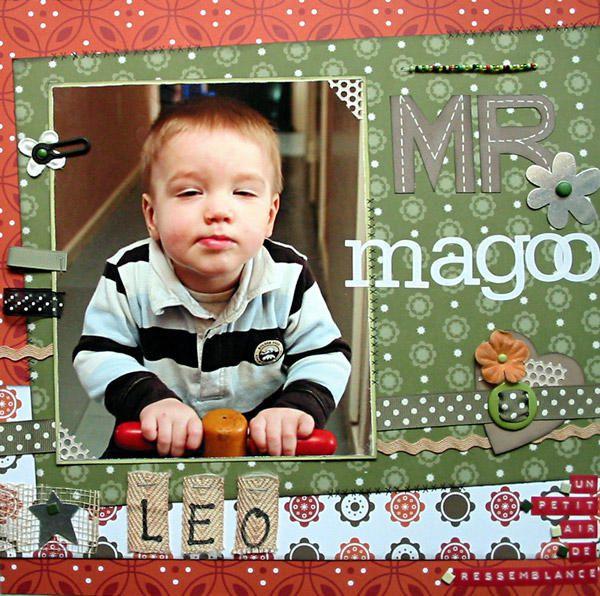 Mes scraps sur Leo, mon deuxi&egrave&#x3B;me petit neveu