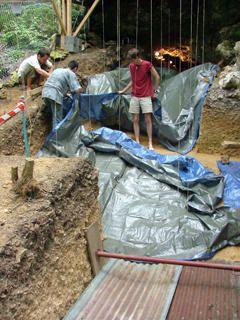 Le chantier du TdC &agrave&#x3B; diff&eacute&#x3B;rents moments de l'ann&eacute&#x3B;e.