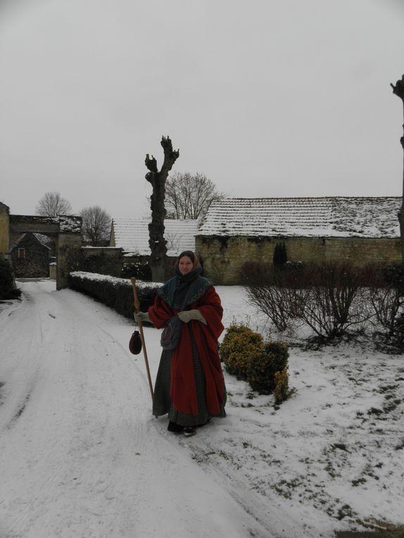Profitant de la neige de février, je m'en vais vers Metz dans la campagne remoise