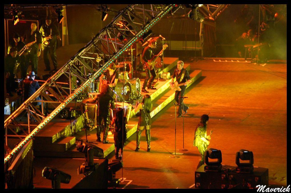Mes photos du concert de Johnny HALLYDAY au stade de la Beaujoire,le 16 Juin 2009.Une soirée extraordinaire,et du grand spectacle...