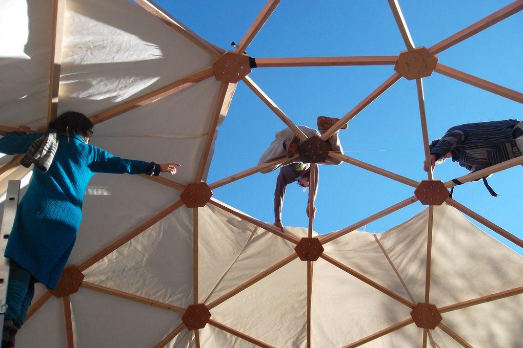 mon atelier itinérant: tipi, yourtes, domes géodesiques...maisons sur mesure, mobiles et traditionnelles...