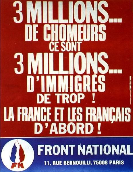 Image result for front national chomeurs