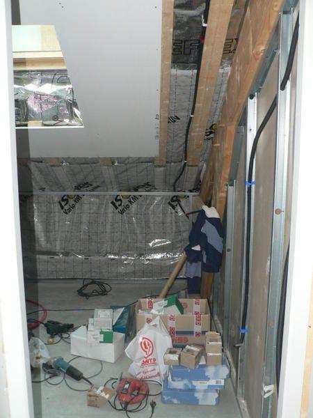 Dernière photos de l'avancement de l'étage et de l'extérieur