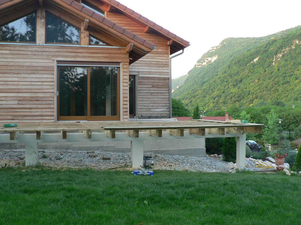 Création de la terrasse bois sur mur porteur