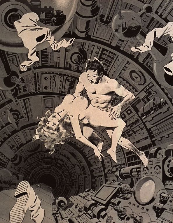 Illustrations and sketches by legendary artist Wally Wood !