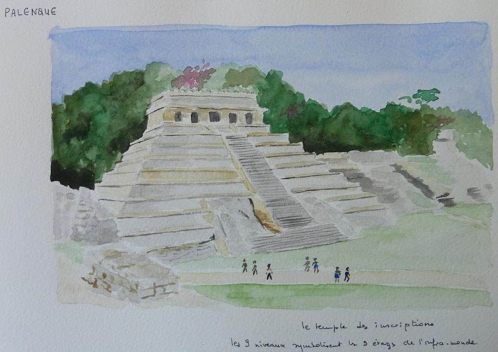 Album - aquarelles-Mexique-et-Guatemala