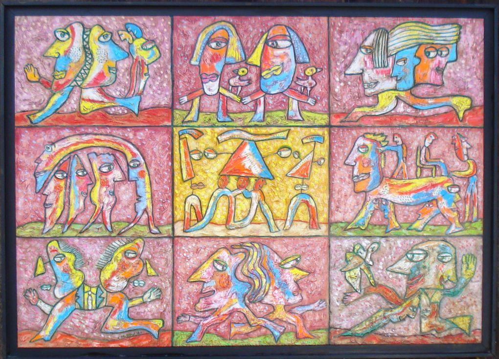 Les peintures et feuilles du peintre sculpteur LOUIS CHABAUD